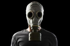 Homem com máscara de gás Foto de Stock Royalty Free