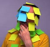 Homem com notas Fotografia de Stock