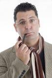 Homem com o charuto em sua boca Imagem de Stock Royalty Free