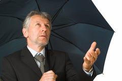 Homem com o guarda-chuva Foto de Stock Royalty Free