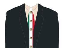 Homem com o laço da bandeira mexicana Imagem de Stock Royalty Free