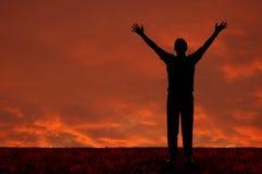 Homem com os braços estendidos Imagens de Stock