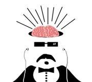 Homem com os cérebros expor Foto de Stock Royalty Free