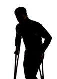 Homem com pé quebrado Fotos de Stock Royalty Free