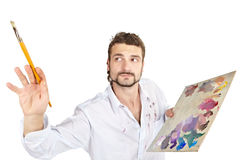 Homem com paleta Fotos de Stock