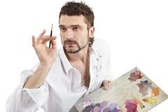Homem com paleta Fotografia de Stock