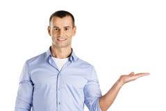 Homem com palma acima Fotos de Stock
