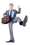 Homem com pasta Fotografia de Stock Royalty Free
