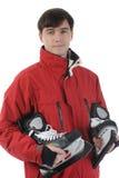 Homem com patins Foto de Stock