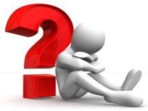 Homem com pergunta Imagem de Stock Royalty Free