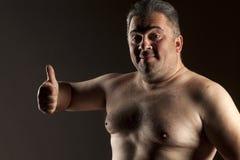 Homem com polegar acima foto de stock royalty free