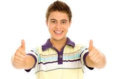 Homem com polegares acima Imagem de Stock