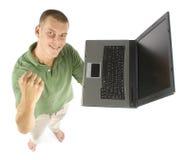 Homem com portátil Imagens de Stock Royalty Free