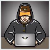 Homem com portátil Fotos de Stock