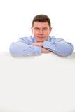 Homem com quadro de avisos Imagem de Stock