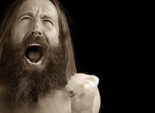 Homem com raiva Fotografia de Stock Royalty Free