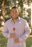 Homem com Rosa Fotos de Stock Royalty Free
