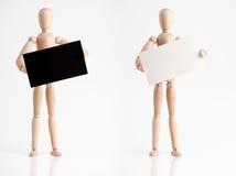 Homem com sinal Fotografia de Stock