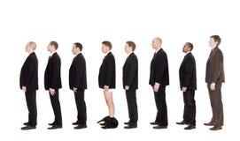Homem com suas calças para baixo Imagem de Stock