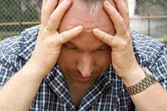 Homem cansado Fotos de Stock