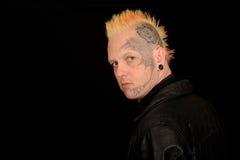 Homem com tatuagens faciais Fotos de Stock Royalty Free