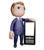 Homem com telefone Fotografia de Stock Royalty Free