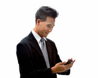 Homem com telefone celular Fotos de Stock