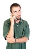 Homem com telefone celular Imagens de Stock Royalty Free