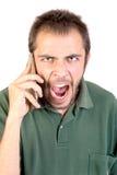 Homem com telefone celular Foto de Stock