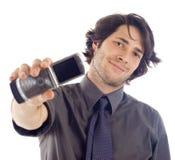 Homem com telefone móvel Imagens de Stock