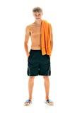 Homem com toalha Fotografia de Stock Royalty Free