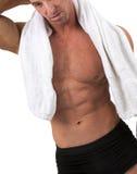 Homem com toalha Fotos de Stock Royalty Free