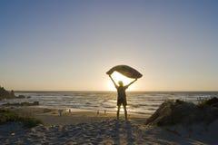 Homem com toalha - Sardinia, Italy Imagens de Stock