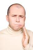 Homem com toothache imagens de stock royalty free