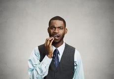 Homem com toothache Imagem de Stock Royalty Free