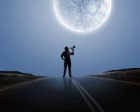 Homem com trombeta Foto de Stock Royalty Free