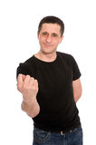 Homem com um figo Imagem de Stock Royalty Free