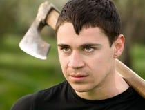 Homem com um machado Foto de Stock