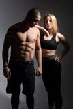 Homem com um torso e uma menina despidos foto de stock royalty free