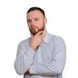 Homem com uma barba Fotos de Stock Royalty Free