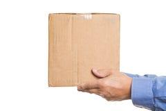 Homem com uma caixa Foto de Stock