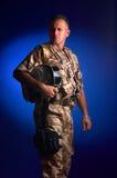 Homem com uniforme militar Fotos de Stock Royalty Free