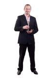 Homem com vidro Foto de Stock Royalty Free