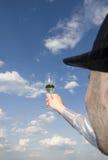 Homem com vidro do vinho Foto de Stock