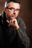 Homem com vidros Imagem de Stock