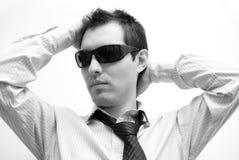 Homem com vidros Fotos de Stock Royalty Free