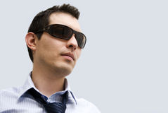 Homem com vidros Fotografia de Stock