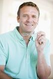 Homem com vidros Imagens de Stock
