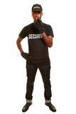 Homem como o agente de segurança Fotos de Stock Royalty Free