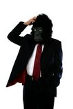 Homem confuso do gorila imagens de stock royalty free